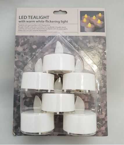 Picture of LED  Flickering Tealights (Pack of 6)