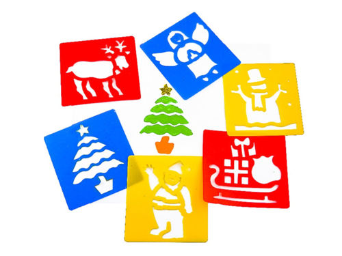 Picture of Christmas Stencil Kit (Set of 6 Assorted)