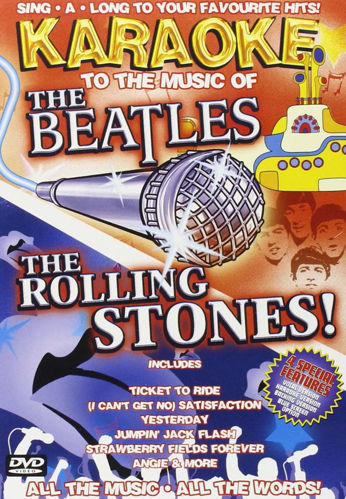 Picture of Beatles and  Rolling Stones Karaoke DVD