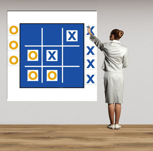 Picture of Magnetic Wall Game - Noughts and Crosses