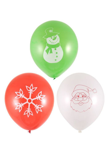 Picture of Christmas Balloon Set (Pack of 18 assorted)