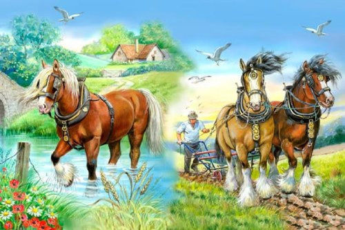 Picture of 250 Large Piece Puzzle - Gentle Giants