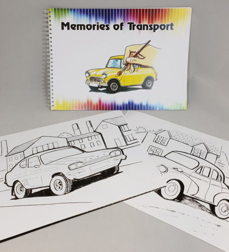 Picture of Vintage Car Colouring Book