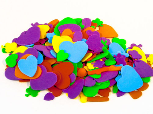 Picture of Foam Hearts and Flowers (Pack of 250)