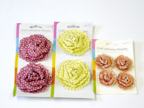 Picture of Paper Flowers for Craft (Pack of 6)