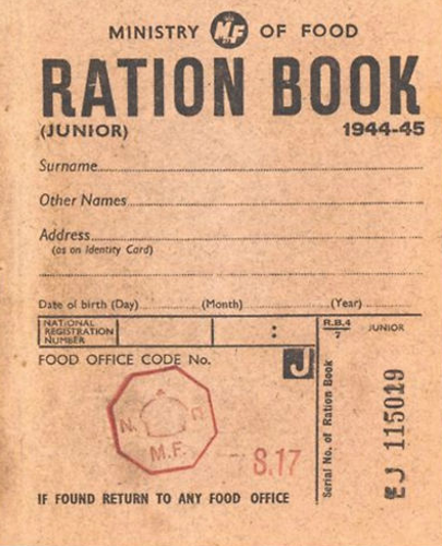 Picture of WW2 Ration Book