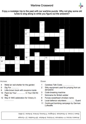 Picture of Wartime Crossword