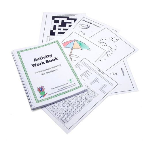 """<img src = """" Activities to Share Activity Work Book c,  A4 spiral bound loose leaf book, activities including word search crossword dot to dot numeracy puzzles, 75 pages, 29.5cm x 21cm"""">"""