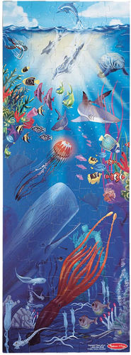 Under the Sea Floor Puzzle, 100 extra large pieces, thick card, wipe clean, size: Size: (l) 121.92 cm x (w) 45.72 cm.