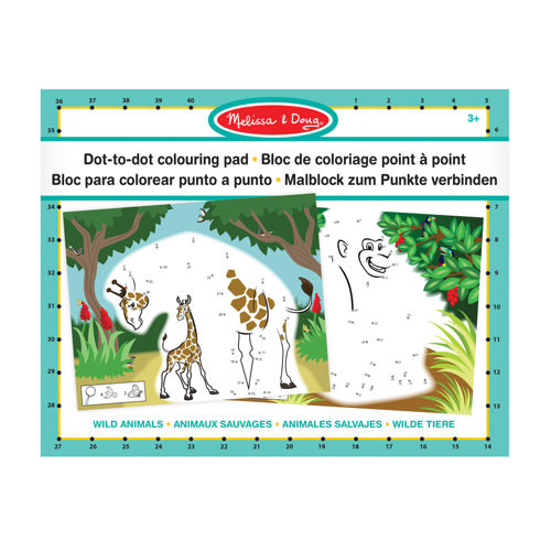 Picture of Dot to Dot Colouring Pad - Wild Animals