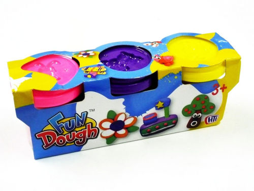 Fun Play Dough, 3 x assorted tubs for great tactile play all ages and abilities