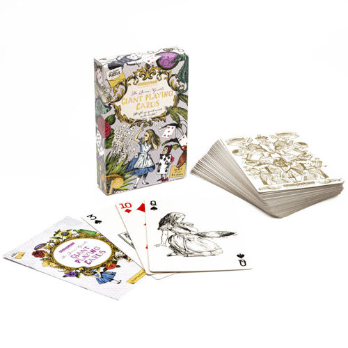 The Queen's Guards - Alice in Wonderland Giant Playing Cards, includes instructions for 16 classic games