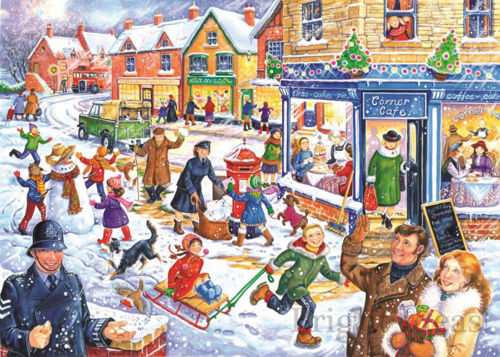 250 Large Piece Puzzle - Out in the Snow, large 3.5cm pieces for easy gripping, durable board pieces, Size: (l) 48cm x (w) 34cm, boxed