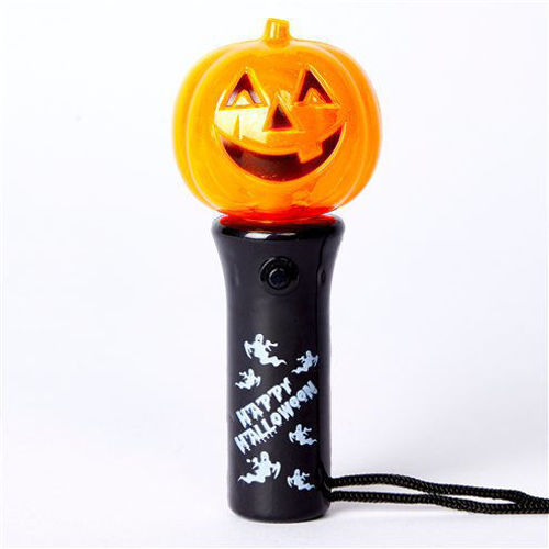 Mini Spinning Halloween Light, press the button to make it spin, stops when you let go, size: 11cm.