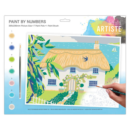 Activities to Share - Paint By Numbers Country Cottage