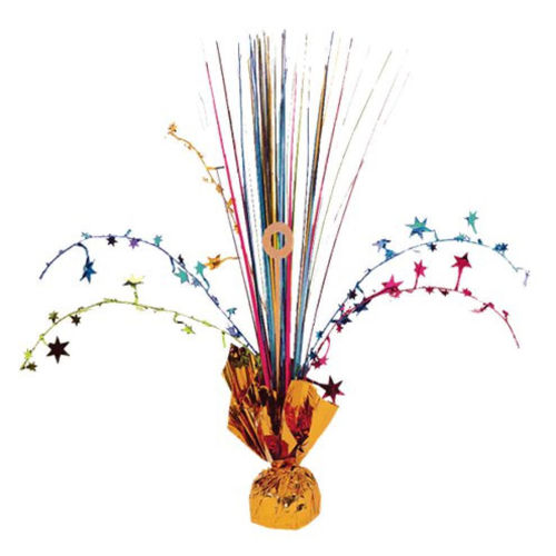 Rainbow Centrepiece Table Decoration, weighted, Christmas, birthday, anniversary, New Year party fun, instant appeal