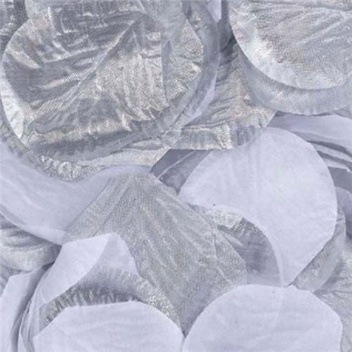 Silver Rose Petals, pack of 300 lightweight petals for craft table decoration for care homes schools