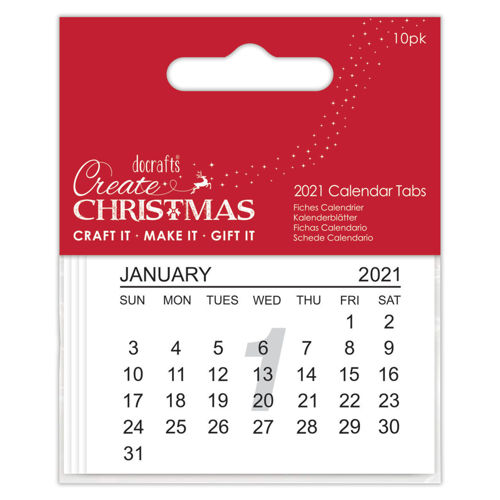Activities to Share - 2021 Calendar Tabs, pack of 10 paper pages