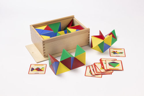 Magnetic Cube Set, quality pattern matching game, set includes 6 x coloured cubes (red green blue and yellow) separated into 24 parts each, 21 template cards and wooden storage box, Size: cubes approx. (l) 8cm x (w) 8cm x (d) 8cm. Storage box: (l) 27.5cm x (w) 19cm x (d) 9cm.