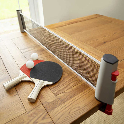 Activities to Share - Table Tennis Set Deluxe Wooden Bats, extendable net and balls