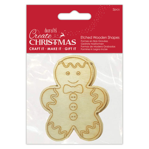 Picture of Gingerbread Man Wooden Shapes (pack of 2)