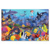 48 Large Piece Underwater Floor Puzzle, underwater scene blue water with colourful fish turtles dolphins, giant chunky pieces in wipe clean laminated board, 48 pieces, size: finished size: 60cm x 90cm.