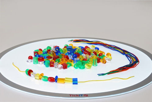 Translucent Jumbo Lacing Beads, 180 assorted colours, large easy grip acrylic beads in red blue green yellow purple and orange, Size: Beads approx. (l) 2-3cm. Lace length: 60cm.