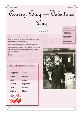 Activities to Share - Valentines Day