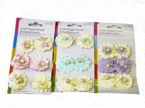 Picture of 3D Paper Craft Flowers (2 x pack of 6 flowers)