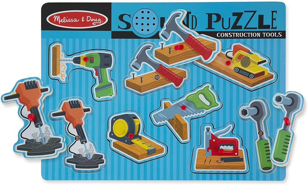 Construction Sound Tools Puzzle 8 chunky pieces
